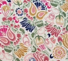 Paisley and Floral Multicolored Print on Cream Poly Crepe Fabric - PCR005 - 1 yard