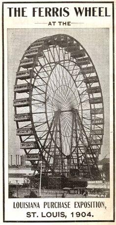 Art - Poster - Travel - Ferris Wheel - Louisiana Purchase Exposition St. Louis  1904