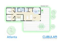 Atlanta :: Cubular Container Buildings Great cabin idea for Dylan