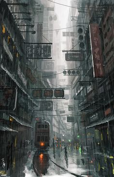 """Hong Kong"" by Wang Ling, DeviantArt. Ling, a Chinese digital artist and painter, calls himself a hobbyist but is astonishingly talented."
