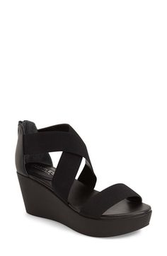 Free shipping and returns on Charles David 'Joey' Wedge Sandal (Women) at Nordstrom.com. A minimalist wedge sandal with crisscrossing ankle straps is lifted by a modest platform and fitted with a back zipper for easy on and off.