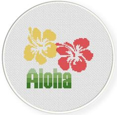 Aloha Cross Stitch Pattern - via @Craftsy