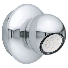 The Norbello 2 Single LED Spotlight has a GU10 5 Watt LED in Warm White. The Norbello has a Chrome Globe Shade with matching…