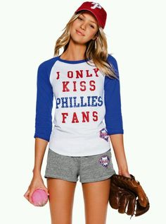Vs love pink phillies baseball shirt and shorts. Not a phillies fan, but love pink!!