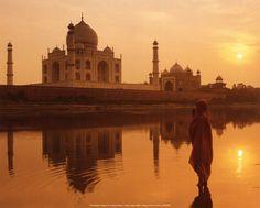 Taj Mahal en India.