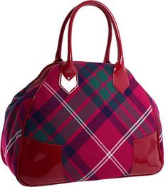 Vivienne Westwood Handbag made of wool MacOxford tartan wool fabric with synthetic patent trim.  in Pink - Lyst
