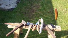 Mower blade forge carving tools storm dropped wood rasp finished now as hi.