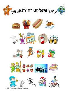 Image result for images of healthy and unhealthy foods
