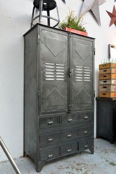 Sublime Useful Ideas: Industrial Shelf Cabinet industrial kitchen set.Industrial Home Design.