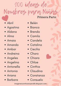 100 Ideas De Nombres De Niños Nombres Nombres De Niñas Nombres De Bebes