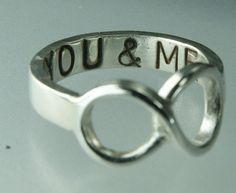You & ME Infinity Symbol Ring Sterling Silver Infinity Ring by Excognito    Love the uniqueness