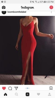 Sheath V Neck Spaghetti Straps Red Elastic Satin Long Prom Dresses Prom Dress V-neck V Neck Prom Dress Long Prom Dress Prom Dress Red Prom Dress Prom Dresses Long V Neck Prom Dresses, Mermaid Prom Dresses, Sexy Dresses, Red Mermaid Dress, Classy Prom Dresses, Red Ball Dresses, Prom Dresses With Slits, Prom Dreses, Dance Dresses
