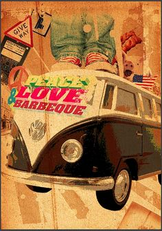 Peace Love & Barbeque Mural 3Claw Daddy Shangri-laDesign + Art Direction