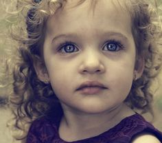 Blue Eyed Baby Girl