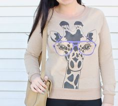 Giraffe Graphic Sweatshirt