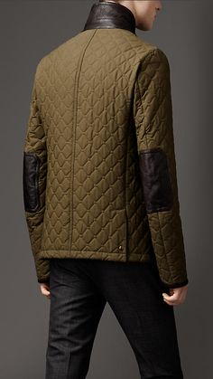 Waxed Cotton Quilted Jacket $1595