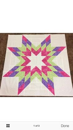 Star quilt top only by Kimberliesquilting on Etsy