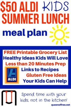 Check out a complete $50 meal plan to make over a week's worth of healthy ALDI summer lunches for your kids. Most require less than 20 minutes of prep!
