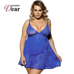 RB80158 Sexy women lingerie fancy underwear with G-string fitness lace babydoll dress plus size sexy lingerie hot XL,3XL,5XL