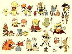 """マニアニ on Twitter: """"ちっちゃいモンスター達を描きました。… """" Character Design Animation, Character Design References, Character Drawing, Kawaii Illustration, Watercolor Illustration, Chibi, Storyboard, Creature Concept, Environmental Art"""