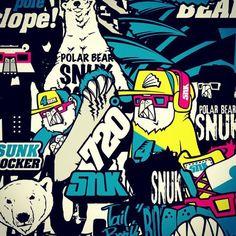 Polar bear snowboarder 'SNUK' extreme character design. Designed by DOLDOL.  #Snowboard #skateboard #sk8 #longboard #surf #graphicdesign #design #cat #graphic #extreme #board #characterdesign #doldol #graphicer #mtb  #스노우보드 #스노우보드스티커 #롱보드 #그래픽디자인 #캐릭터디자인 #북극곰 #스노우 #illust #graffiti #그래피티 #스티커 #돌돌디자인 #doldol #polar #snowboardsticker #polarbear #extreme