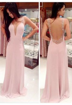 Hot-selling Long Column Beading Straps Long Prom Dresses/Evening Dresses CHPD-70241