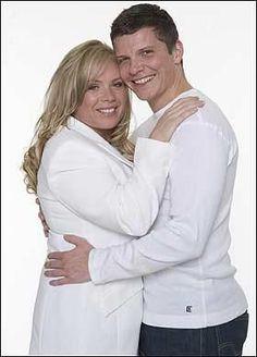 Sharon Watts Mitchell Rickman and Dennis Rickman played by Letitia Dean and Nigel Harman.:
