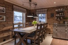 Small Cabin Kitchens, Home Kitchens, Cabin Homes, Log Homes, Log Cabin Living, Cabin Interiors, Cabins And Cottages, Home Remodeling, Kitchen Design