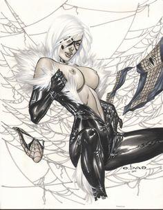 eropix: Black Cat Art: Eric Basaldua (e. Marvel Girls, Comics Girls, Nananana Batman, Black Cat Marvel, Black Cat Art, Comic Kunst, Luis Royo, Sexy Drawings, Comic Games