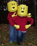 Lego Minifigs Costumes DIY - the twins would love these!