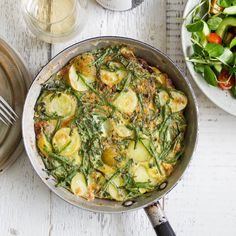 New Potato and Samphire Fritatta Sea Asparagus, Why Vegetarian, Mini Cucumbers, Cold Lunches, Egg Dish, Frittata, Cherry Tomatoes, Organic Recipes, Veggie Recipes