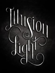 Illusions & Light Book Cover Lettering by Jaymie McAmmond, via Behance