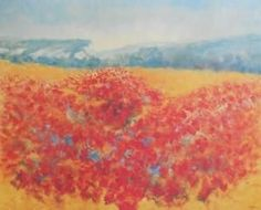 "Zaoru ""Poppy Field in Provence"" 24x30 Offset Lithograph"