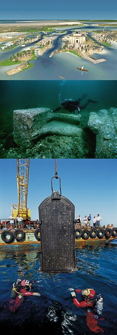 Finally, the lost Egyptian city of Heracleion has been revealed after spending 1,200-years under sea. Researchers discovered amazingly well-preserved artifacts 30-feet under the surface of the Mediterranean Sea in Aboukir Bay, near Alexandria. - http://www.icantbelieveit.org/2013/05/Lost-Egyptian-City-of-Heracleion-Revealed.html?utm_source=feedburner_medium=email_campaign=Feed%3A+icbiblog+%28I+Can%27t+Believe+It%29_content=Yahoo%21+Mail