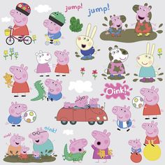 PEPPA PIG 28 Wall Decals Room Decor Stickers Bedroom Decorations George Nursery #RoomMates #RemovablePeelandStickVinylBedroomDecorations