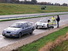 The Ford Focus RS is on test with Essex Police, and Ford are taking the chance to compare it to another Police Ford from 1986 – the Police Test, Ford Police, Police Cars, Ford Rs, Car Ford, Essex Police, New Ford Focus, Police Officer Requirements, Law Enforcement Jobs