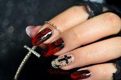 nail art halloween gothique