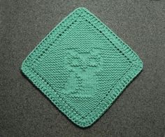 Diagonal OWL Baby Wash Cloth Aqua Turquoise by AuntSusansCloset