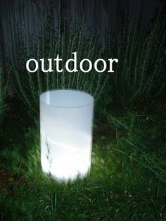 Giant easy DIY luminaries for indoor or outdoor use.
