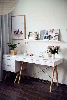 I love this workspace! Flowers poster desk 58 products