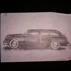 Original sketch for my Ron Dunn wagon. I sketched this out one night while I was working at Lake Greeley Camp in the Poconos Mountains. It was the sunmer of 2011 right before my daughter was born. An exciting time when I was feeling very creative. I miss that camp. It was very peaceful. #@theroddersjournal #trj #roddersjournal #rondunnford #valleycustom #shoeboxford #bombsmagazine #hotrodsix #custom #kustom #flatheadford #custom #kustom by baycityproductions