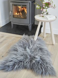 Icelandic Sheepskin Rug - Soft Grey