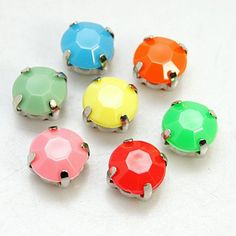 Mixed Faceted Round Montee Rhinestones Beads from Pandahall.com