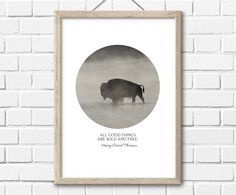 Buffalo PrintInstant DownloadPrintable Wall by InstantGalleryWall