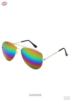Desen Unisex Adult Aviator Sunglasses (GOLD COLORFUL): Classic Aviator Full Mirror Lens Sunglasses Metal Frame for men and women. Item listed by desen. guarantee picture and case match. Gold Aviator Sunglasses, Sunglasses Sale, Oversized Sunglasses, Mirrored Sunglasses, Sunglasses Women, Unisex, Free Shipping, Bags, Shoes