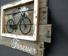 Wedding bike Daisies antique bike van TheWhiteBirchStudio op Etsy