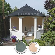 This open, pretty summerhouse suits any garden and is ideal to entertain guests or retreat from the sun. She Sheds, Garden Spaces, Architectural Elements, Outdoor Entertaining, Campsite, Gazebo, Outdoor Living, Outdoor Structures, Smoke