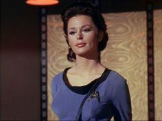 "Mariana Hill as Dr. Helen Noel in the original Star Trek series.....Season 1 Episode 10 ""Dagger of the Mind""."