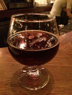 Three Heads Winter Wendigo Ale... With hazelnut, dried cherries, and cinnamon... On cask at The Dandelion, Philly.