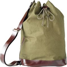 A.P.C. Sailor's Duffel Bag $200  You can probably find one at an Army surplus.